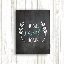 Home Decor Chalkboard 50 Off Home Sweet Home Chalkboard Print Home Decor