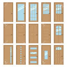 Wooden Interior Vector Collection Of Various Types Of Wooden Interior Doors