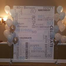 wedding anniversary backdrop custom 80th birthday party backdrop personalized vinyl