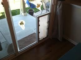 doggy door glass door pet door installed in sliding glass door internachi inspection forum