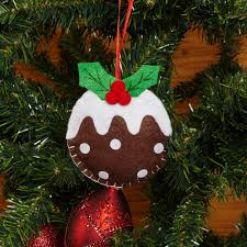 sold out christmas pudding felt tree decoration trade