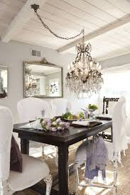 Shabby Chic Chandeliers by Swag Shabby Chic Chandeliers Over Dining Table Lovely Shabby