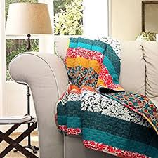 Tangerine Home Decor Amazon Com Lush Decor Boho Stripe Throw Blanket 60 X 50