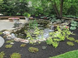 landscape water features ponds and waterfalls canton ohio