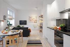 small open living room and kitchen comfy home design