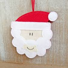 handmade felt santa christmas decoration by be good darcey