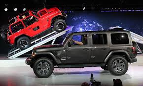 cartoon jeep front jeep reshapes iconic wrangler with slippery brick styling