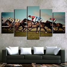 Barrel Racing Home Decor Online Get Cheap Horse Racing Painting Aliexpress Com Alibaba Group