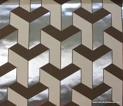 vintage wallpaper of the day brown and silver metallic geometric