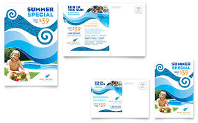 swimming pool cleaning service postcard template word u0026 publisher