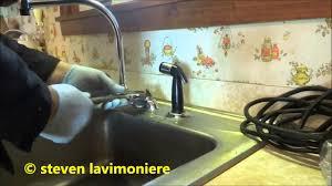 kitchen faucet making strange noise youtube