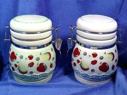 antique canisters kitchen porcelain canisters kitchen kitchen canisters apples ceramic ltd