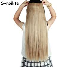 Clip In Blonde Hair Extensions by Light Ash Brown Mix Bleach Blonde Long 66cm Straight Clip In 3 4