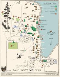 Wisconsin Lake Maps by Summer Camp Camp Manito Wish Ymca In Boulder Junction Wisconsin