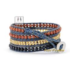 braided bracelet with beads images New 2016 mixed crystal beaded leather wrap bracelet handmade wrap jpg