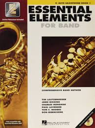 amazon com essential elements 2000 eb alto saxophone book 1