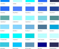 colour shades with names different shades of blue a list with color names and codes different