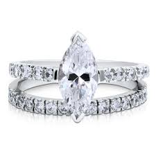 engagement rings sterling silver sterling silver marquise cubic zirconia cz solitaire engagement