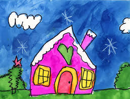 art projects for kids callista u0027s snowy house painting projects
