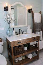 Two Tone Gray Walls by Rustic Bathroom Remodel Reclaimed Wood Diy Bathroom Vanity