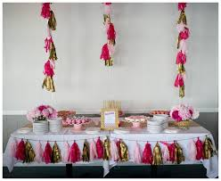 Gold And Pink Party Decorations A Glam 40th Birthday Party