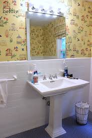bathroom stencil ideas powder room makeover idea using a stencil hometalk