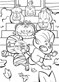 page jack o lanterns coloring page for kids printable free