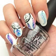 dream catcher nails feather nail art pinterest dream catcher