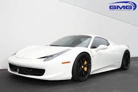 cars ferrari white white ferrari 458 with satin black hre p101 wheels gmg racing
