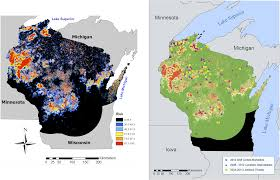 Show Me A Map Of Wisconsin by Researchers U0027risk Map U0027 Helps Predict Wolf Attacks On Wisconsin
