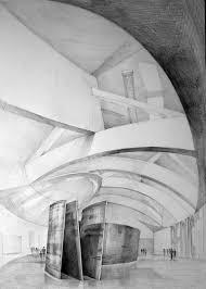architect frank gehry guggenheim museum bilbao drawing by klara