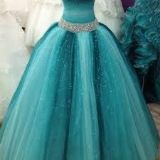 teal tulle sleeveless ombre teal tulle beaded sweetheart dress