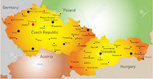 Slovakia Map Vector Color Map Of Czech Republic And Slovakia Royalty Free