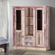 rustic wood display cabinet ridge reclaimed wood 2 door rustic display cabinet