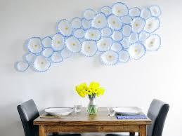 Flower Wall Decor Ergonomic White 3d Flower Wall Decor Creative Idealiving Room