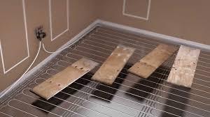 prowarm warm water kit installation floating floor panel method