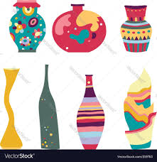 Decorative Vases Decorative Vases Royalty Free Vector Image Vectorstock