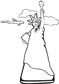 statue of liberty and air force one coloring page statue of