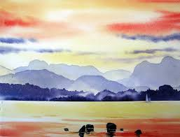 easy landscape paintings for beginners landscape painting ideas