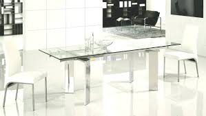 Glass Dining Room Sets Dining Tables Modern Glass Dining Table Round Glass Top Dining