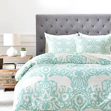 Bed And Bath Duvet Covers Deny Designs Elephant Duvet Cover In Green Bed Bath U0026 Beyond