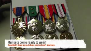 mounted military medal sets youtube
