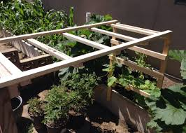 making a cucumber trellis 2 youtube