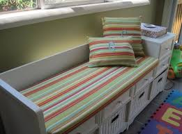 green bench cushion home decoration cool striped indoor bench cushion with 2 pillows