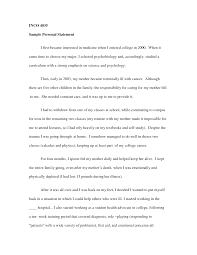personal statement layout for college
