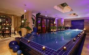 luxurious home indoor swimming pool decor show breathtaking huge