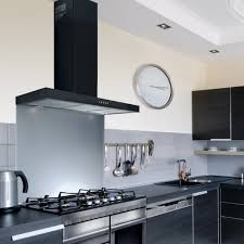 designer kitchen hoods 110cm flat black