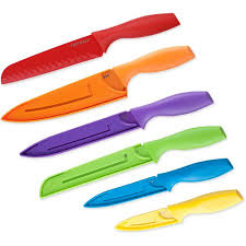 walmart kitchen knives top chef 6 colored knife set professional grade walmart com