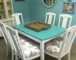 Teal Dining Table Dining Sets Etsy