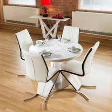 White Gloss Dining Table And Chairs Large Round White Gloss Dining Table Glass Lazy Susan Led Lighting